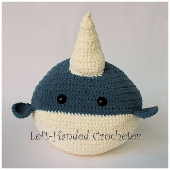 Crochet Giant Narwhal And Shark Pattern Only Etsy