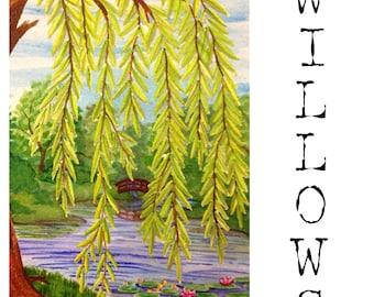 Willows  4 x 6 Original Painting