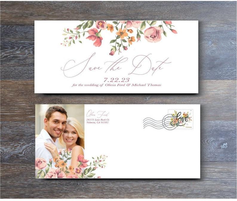 Wedding Save-the-Date Sample Vintage Rose EPG40