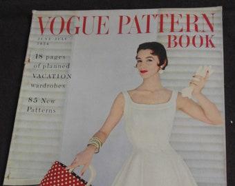 Vogue Pattern Book June July 1954