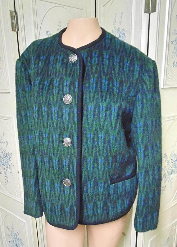 Vintage Bavarian Alpine Loden-Coat, Size 14