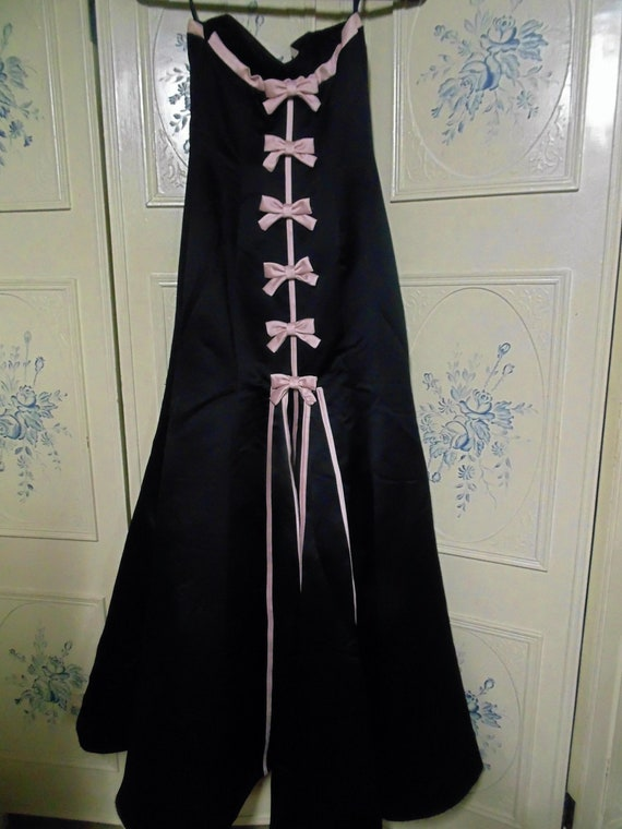 1980 Black and Pink Formal by Jessica McClintock,… - image 2