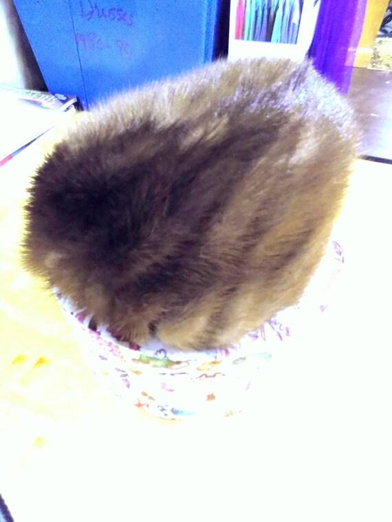 Vintage Mink Fur Hat, Genuine Mink Hat Designed by