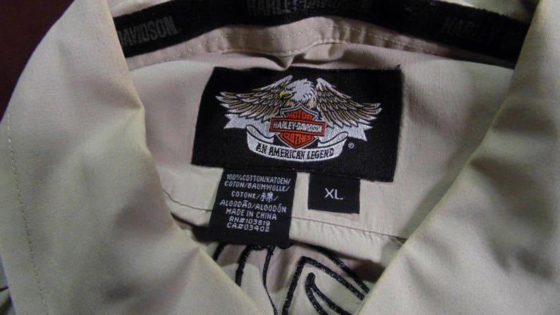 Harley Davidson Tan and Black XL Shirt