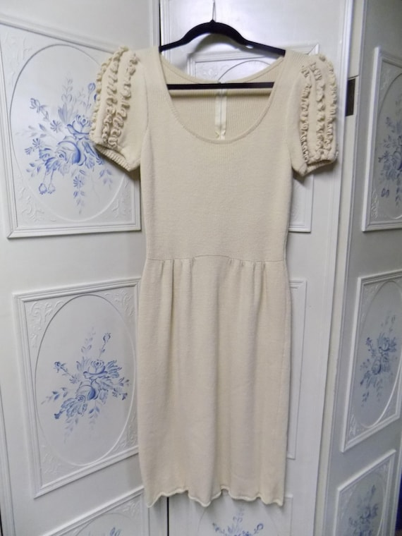 Vintage Beige St. John for Lord & Taylor, Ruffled