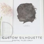 CUSTOM Silhouette, Child Silhouette, Personalized Portrait, Silhouette Portrait, Kids Silhouette, Printable Silhouette, Custom Portrait