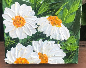 Original Floral artwork - loose florals - abstract floral - daisy