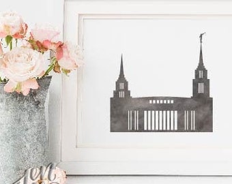 LDS Temple art - Customizable - Rome Italy Temple - Printable