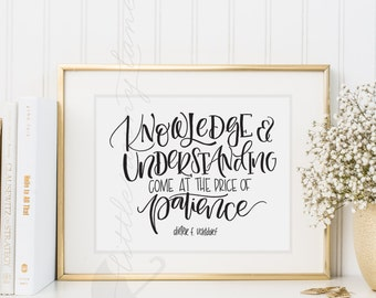 Patience Quote Etsy