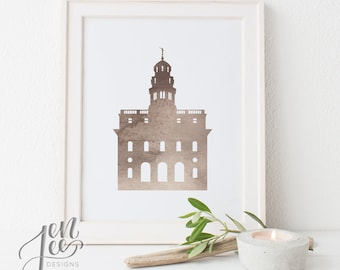 LDS Temple art - Customizable - Nauvoo Temple - Printable