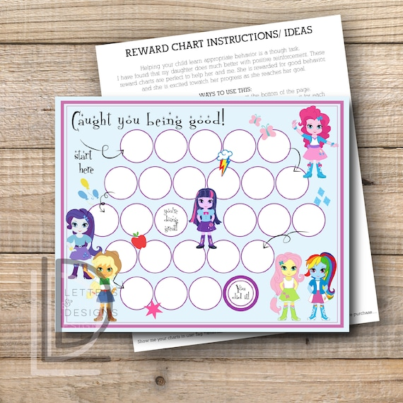 Reward Chart My Little Pony Reward Chart Equestria Girls Etsy