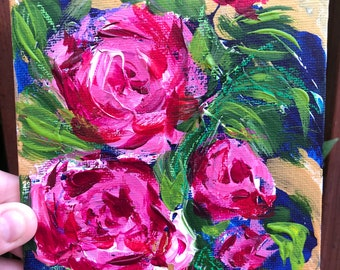 Original Floral artwork - loose florals - abstract floral - peonies