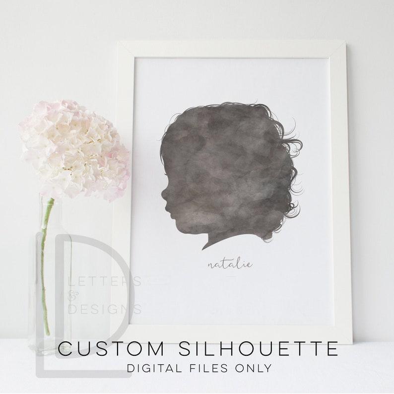 CUSTOM Silhouette Child Silhouette Personalized Portrait image 0