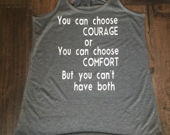 Women's Courage or Comfort Tank Triblend Tank Top Flowy