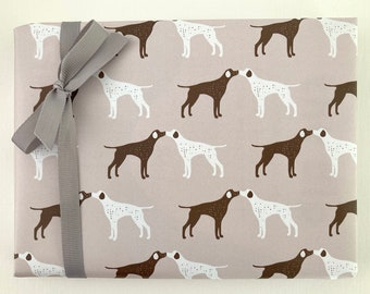 Printable A3 giftwrap - GSP dog design