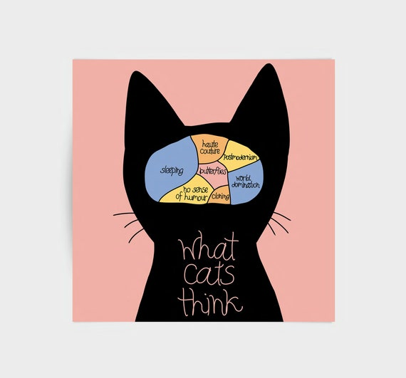 What Cats Think, greeting card