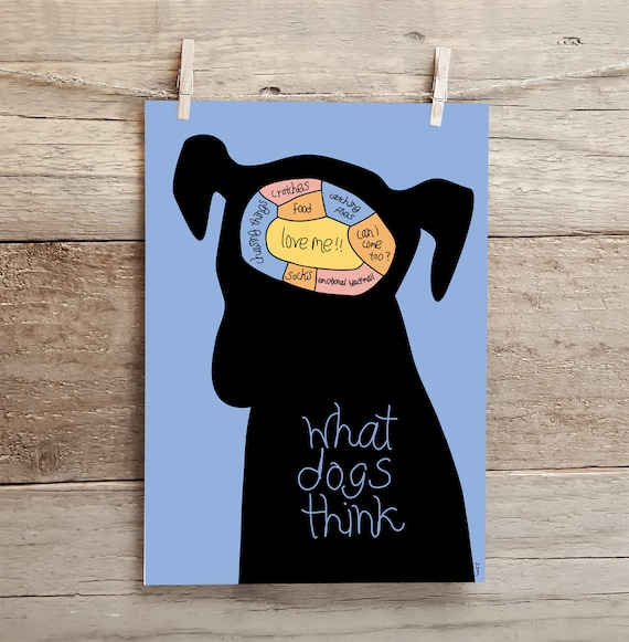 What Dogs Think - high quality A4 giclee art print