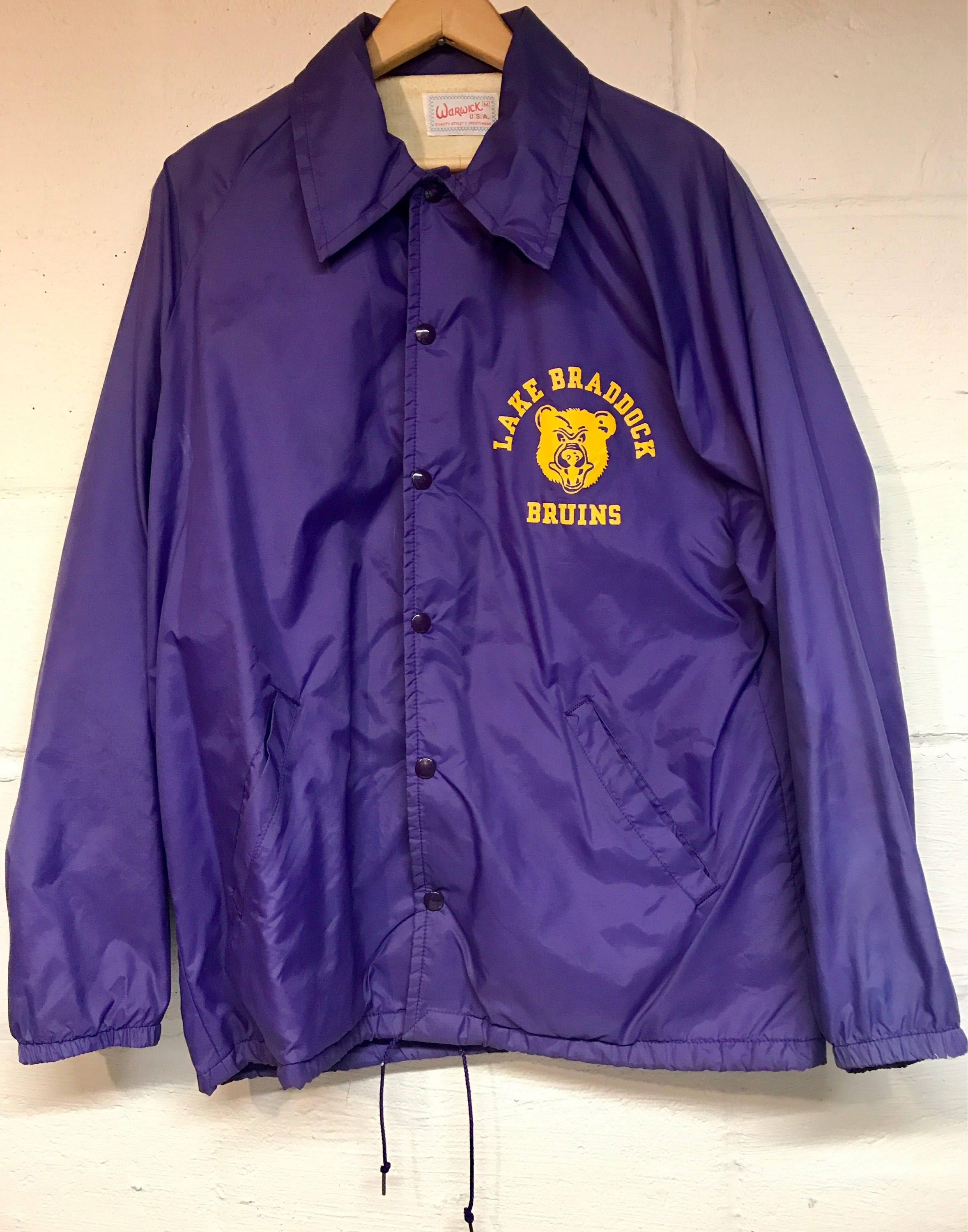 Vintage 1970's Hazelwood Baseball Coach's Jacket Large Snap Button Pittsburgh Pennsylvania Blue Gold High School Champions Dunbrooke RDQBkh9Kh