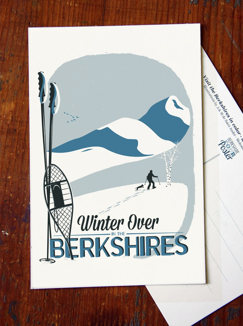 Winter Over in the Berkshires Classic Berkshires postcard