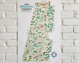 Map of  Berkshire County