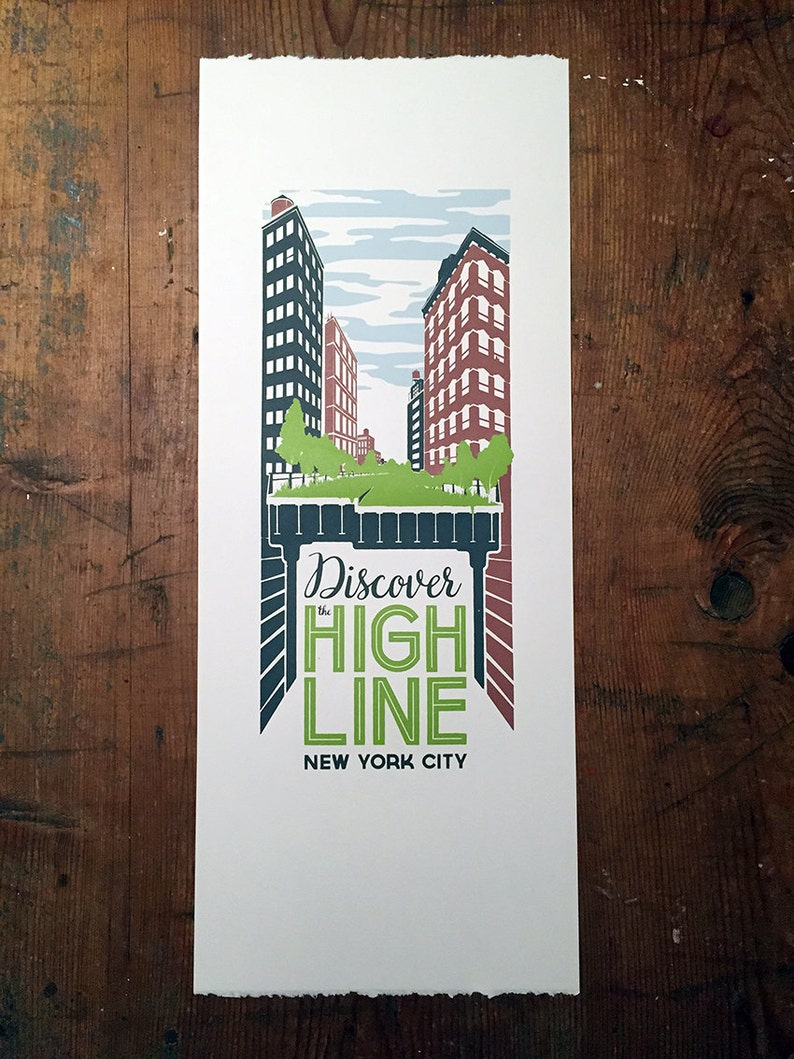 Discover the High Line New York City poster image 0
