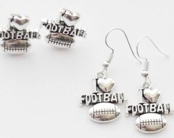 Football Earrings, Football Studs, Football Stud Earrings, Football Jewelry, Football Gifts, Football Jewellery, Football coach gift