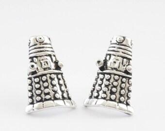 Robot Earrings, Robot Stud Earrings, Robot Jewelry, Retro Robot Charms, Geek Earrings, Sci-fi Robot Earrings, Nerd Earrings, Robot studs
