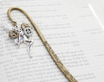 Reader Gifts, Steampunk Bookmark, Fairy Bookmark, Steampunk Fairy Bookmark, Steampunk Fairy Gift, Bookmark Gift, Faerie Bookmark, Book Lover