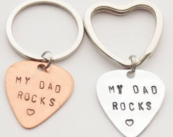 My Dad Rocks Keychain, Guitar Pick Keychain, Dad Keychain, Pick Keychain, Guitar Pick Keychain, Father of the Bride, Music Keychain
