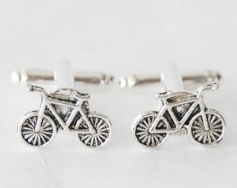 Bike Cufflinks, Bicycle Cufflinks, Cyclist Cufflinks, Bike Gifts, Cyclist Gifts, Vintage Bike Cufflinks, Biking Cufflinks, Men Biking Gifts