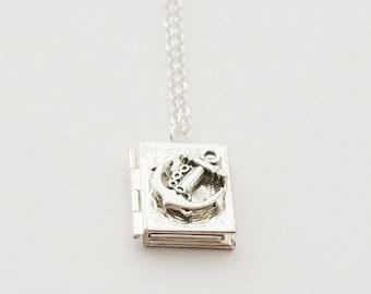 Silver anchor locket  c1106d9a1a2d