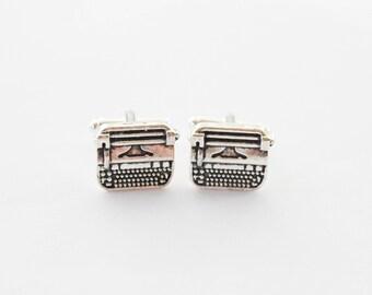 Typewriter Writer Author Journalist Blogger gifts for men cufflinks cuff links