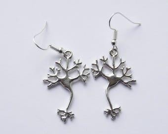 Neuron Earrings Brain Earrings Neuron Jewelry Molecule Earrings Chemistry Earrings Scientist Earrings