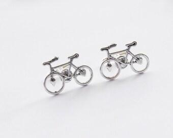 Cyclist Cufflinks, Bike Cufflinks, Bicycle Cufflinks, Bike Gifts, Cyclist Gifts, Vintage Bike Cufflinks, Biking Cufflinks, Groomsmen Gifts