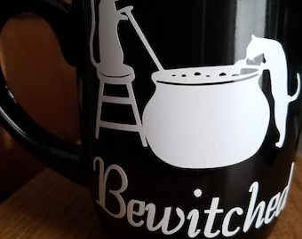 Cats and Cauldron Bewitched Coffee Mug