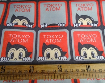 Pretty Astro Boy pattern Fine canvas/Khaki twill Fabric 48*145 cm 1/2 Y
