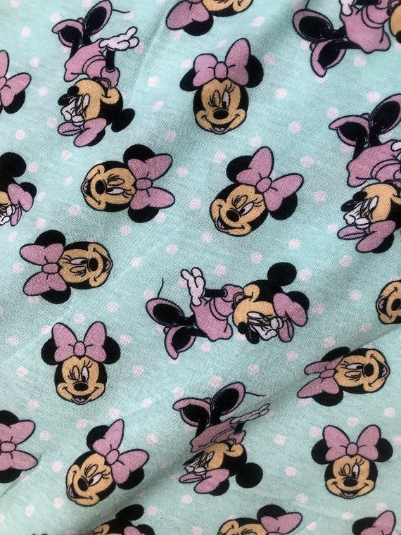 Cotton Jersey Fabric Minnie Go With The Bow 145cm