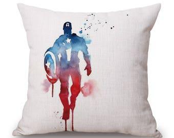 Linen Pillow case comic hero BM/captain/HULK/Thor/Hawkeye