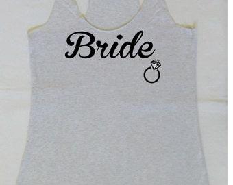 Eco Bride Tank Top. Bachelorette Party Tanks. Bride Shirt. Wedding Party Tanks. Maid of Honor Tank. S, M, L ,XL