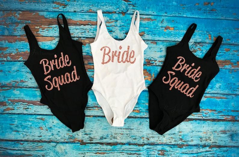 7b2f3a73398 Bride Squad Bathing Suit. Bride Bathing suit. Bride Swimwear. | Etsy