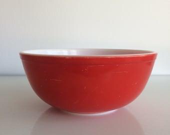 Red pyrex bowl   Etsy