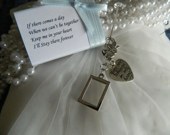 """Diy Photo Retangle double sided  bouquet charm - """"You are always in my heart-Gift Boxed -"""
