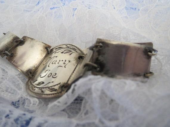 Sentimental Sweetheart Trench Art Bracelet