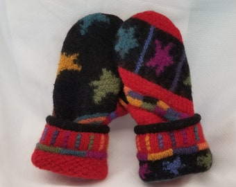 Icelandic Design recycled wool sweater stocking hat and