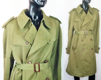 Details about Wool Trench Coat Romanian Military Surplus Army Issue Collectible Memorabilia