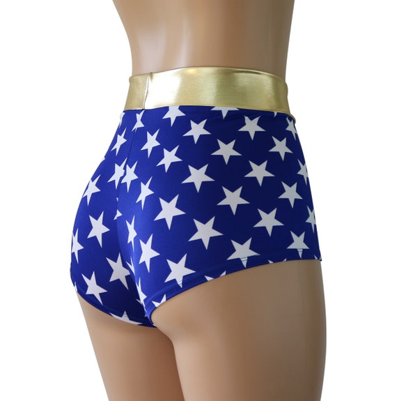 Wonder Woman Inspired Booty Shorts BlueRed