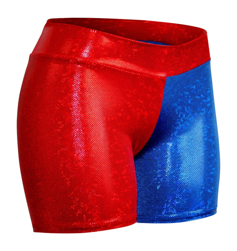 Harley Quinn Red & Blue Costume Shorts.  Suicide Squad image 0