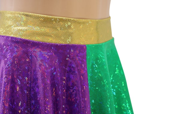and Plus Sizes Toddler Child Carnival Marvin the Martian Green Purple Holographic Skirt Festival Mardi Gras Adult