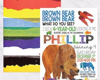 Brown Bear, Brown Bear Birthday Invitation