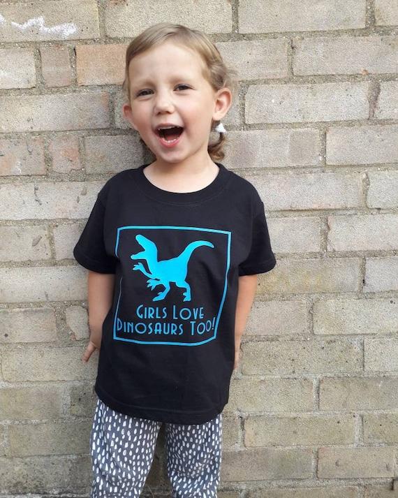I Love Dinosaurs Short-Sleeve Tshirt Baby Girls